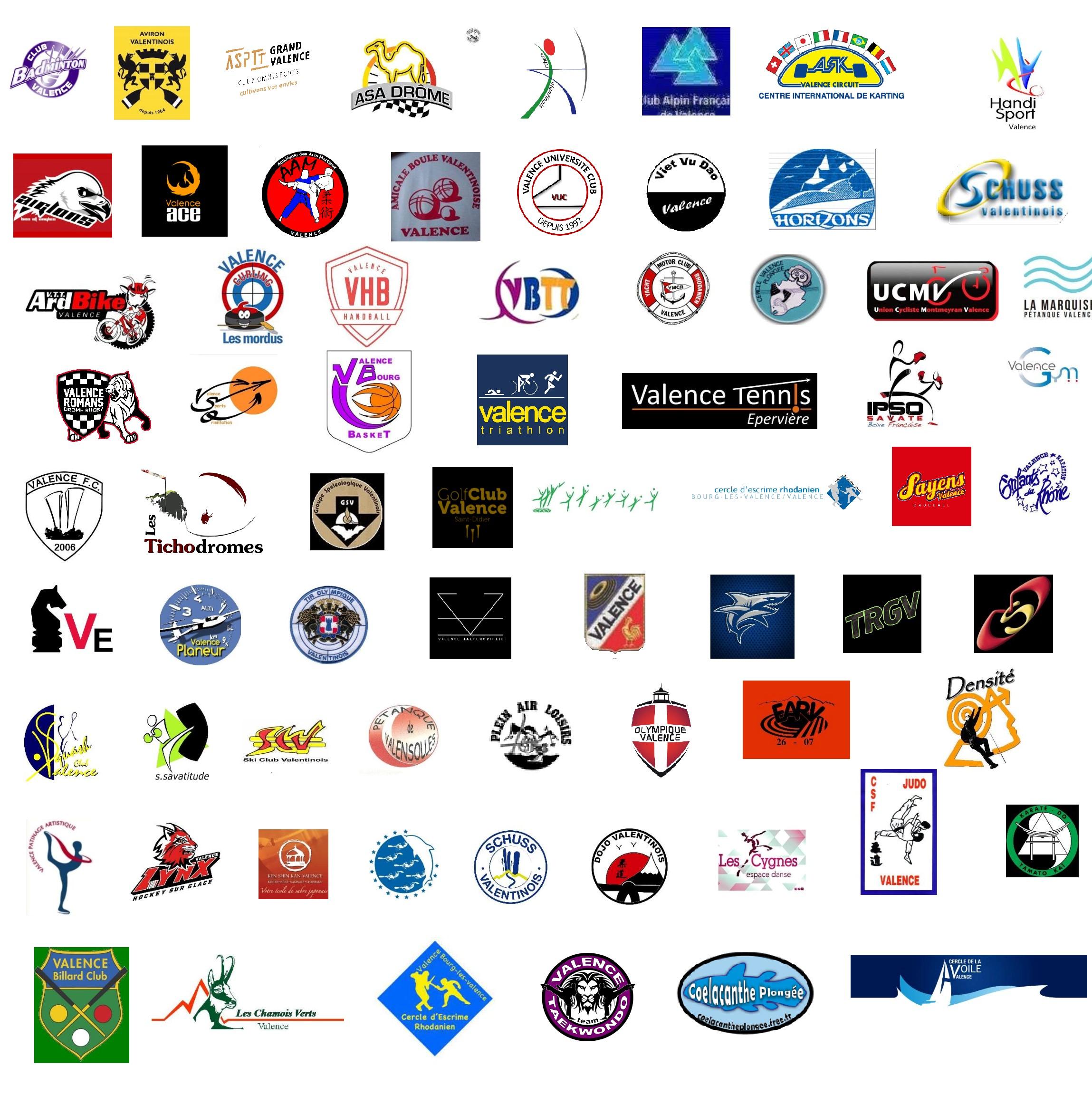Les 110 clubs affiliés à l'OSV